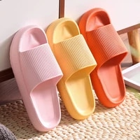 bathroom slippers men wome anti silp lightweight soft sole slippers thick bottom comfortable sandals soild color indoor footwear