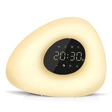 Wekker Wake Up Light Zonsondergang Zonsopgang Simulatie Met 10 Natuurgeluiden 7 Kleuren Licht Touch Control Rgb Dimbare Night lamp