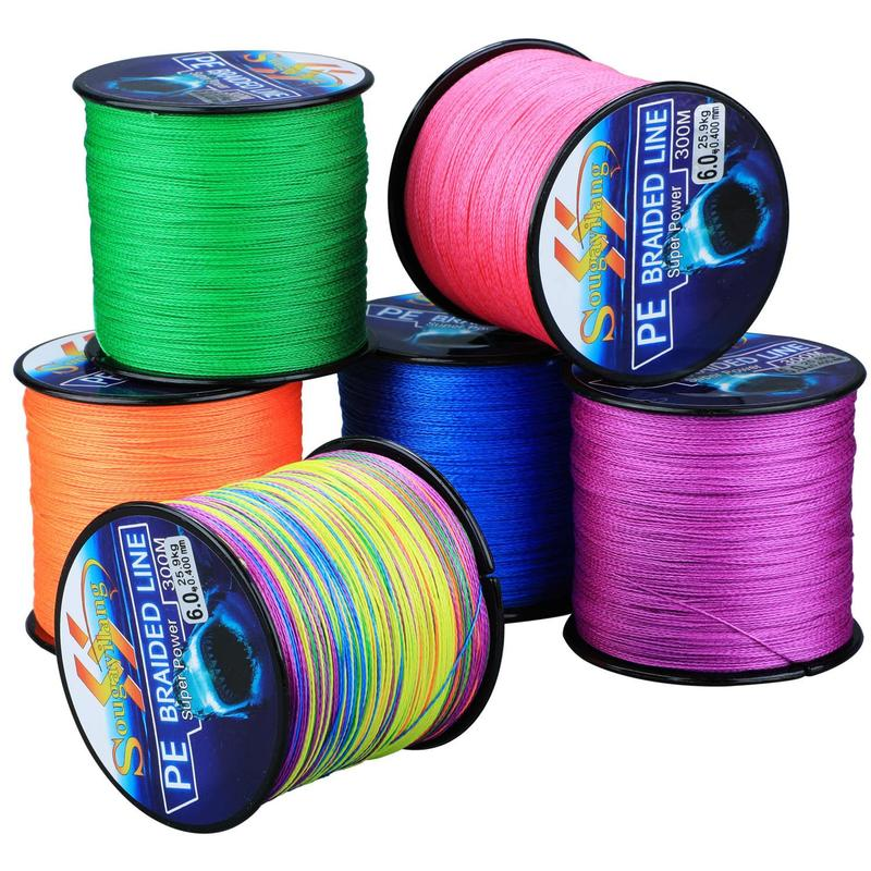 Sougayilang 300M 4 Strands Braided Fishing Line 0.6-8.0# PE Fishing Line 6.3-32.8kg Multifilament Fishing Line Smooth Pesca sougayilang 300m 4 strands braided fishing line 0 6 8 0 pe fishing line 6 3 32 8kg multifilament fishing line smooth pesca
