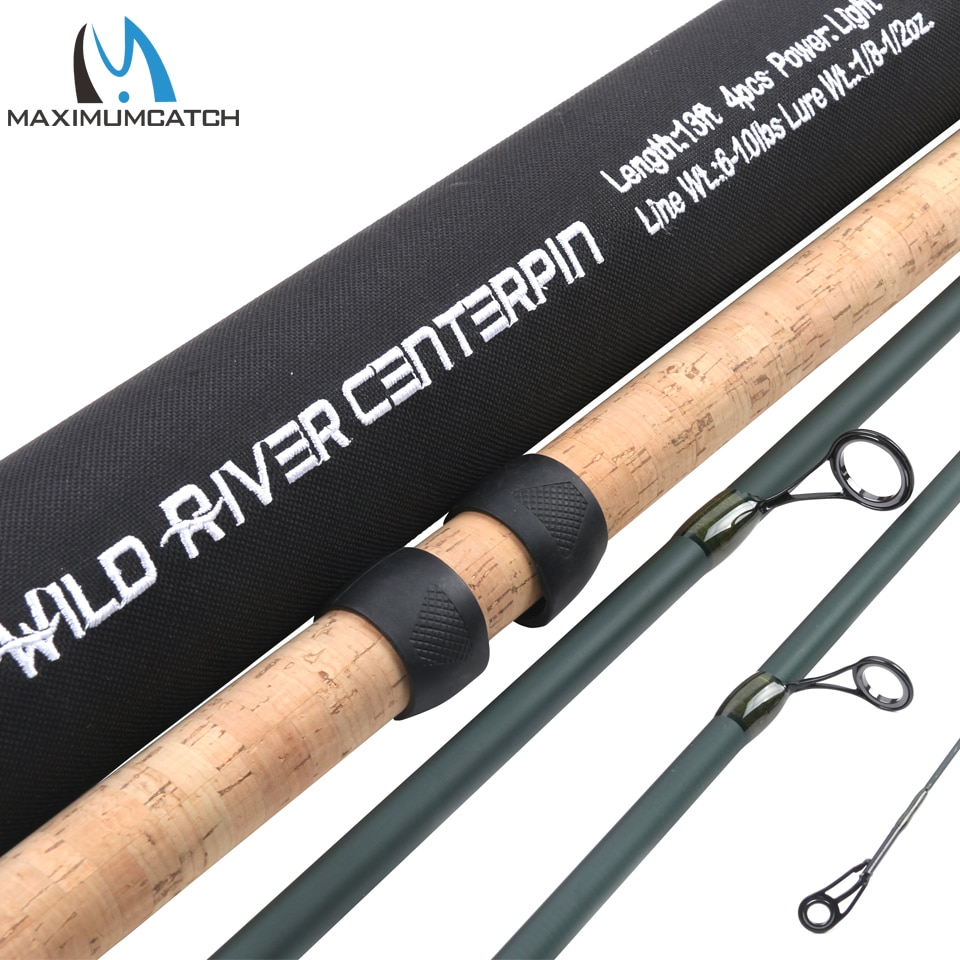 Maximumcatch 13FT 4/6sec CenterPin Fishing Rod Lure Weight 1/8-1/2oz Wild River Salmon & SteelHead Float Center Pin Fishing Rod