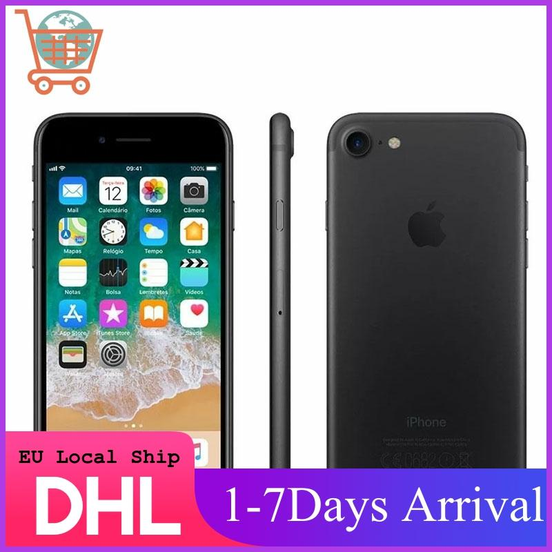 Desbloqueado Apple iPhone 7 4G LTE Smartphone 32/128GB/256GB IOS 12.0MP Cámara Quad-Core huella dactilar 12MP cámara del teléfono de Apple