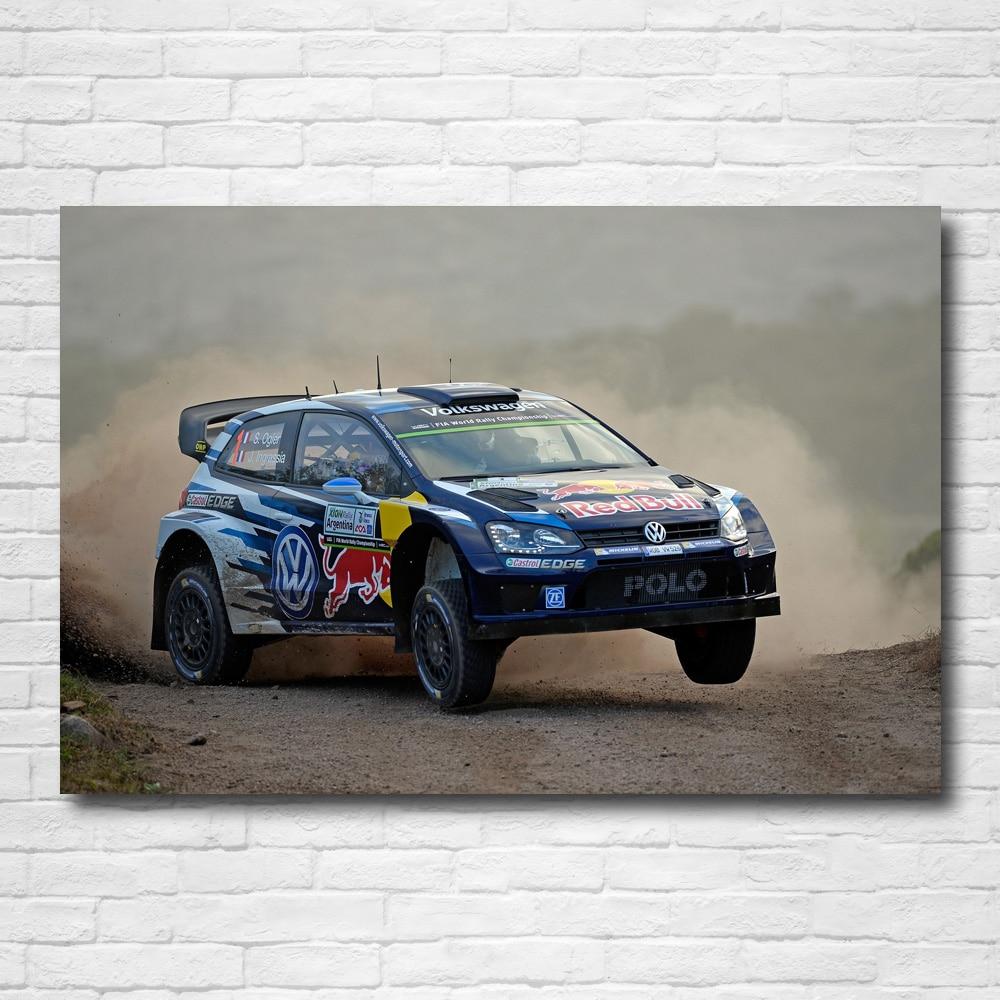 Ropa deportiva, papel tapiz, Polos R W R C carreras de Rally, carteles e impresiones de coches, lienzo, arte de pared, pintura moderna para decoración del hogar