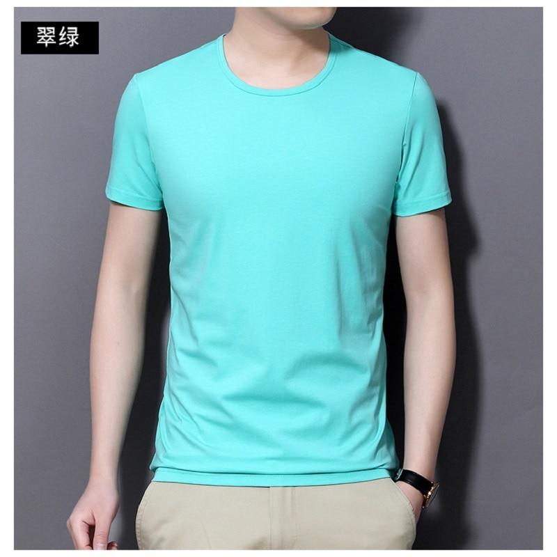 2021 جديد الصيف بلايز تيز الرجال قميص قطني برقبة مدورة قصيرة الأكمام تي شيرت 2129