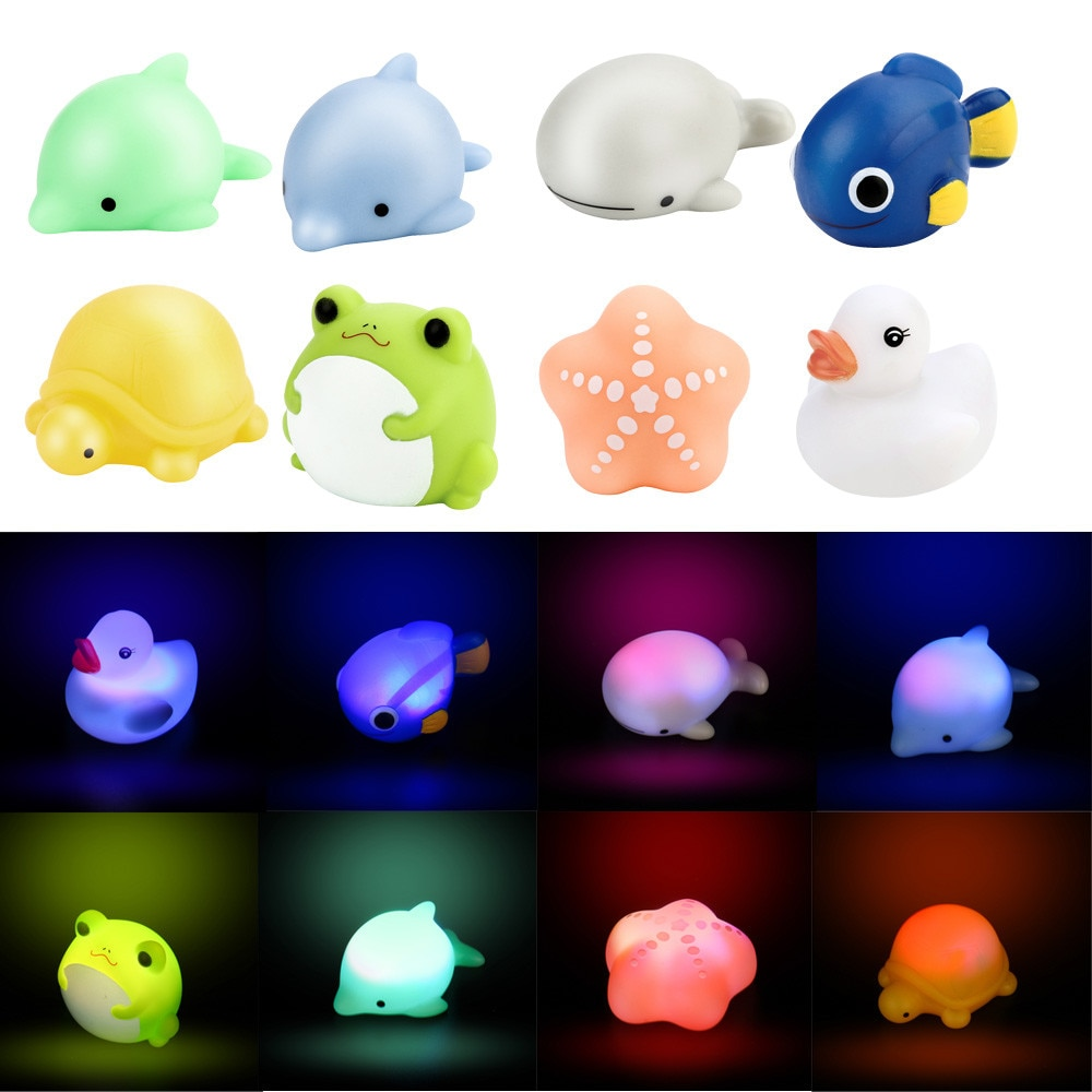 Ducha de bebé de juguete de baño de Color cambiar LED lámpara de luz de juguete de bebé juguetes para niños regalos игрушки для детей # CN20