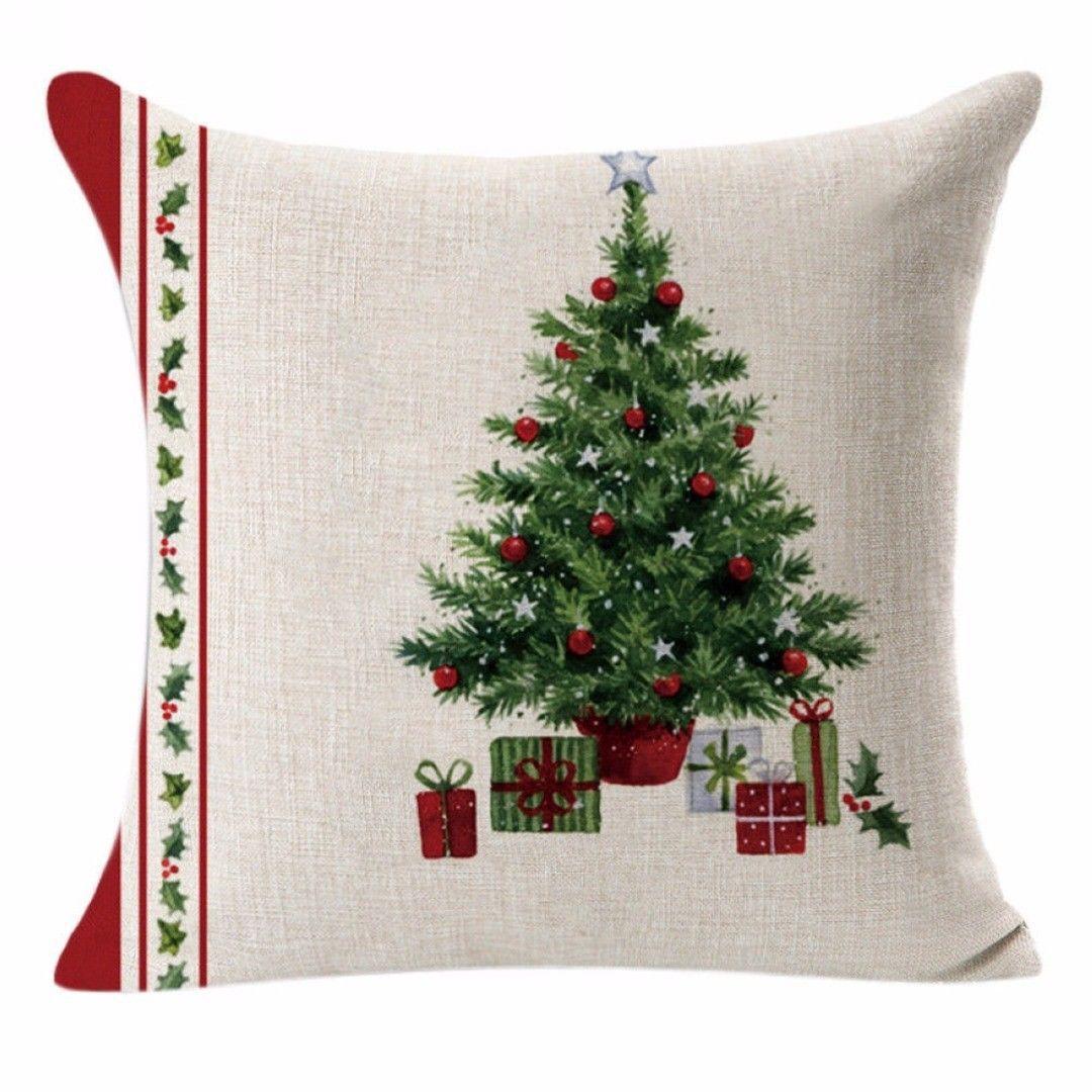 وسادة وسادة للديكور عيد ميلاد سعيد الكتان المخدة أريكة وسادة مجموعة ديكور المنزل وسائد زخرفية ل غطاء الوسادة