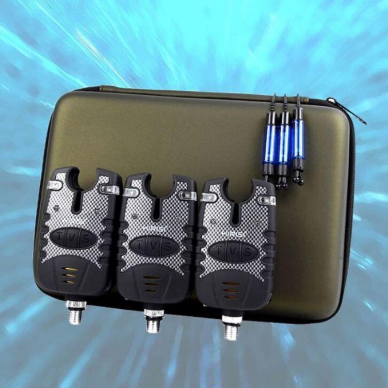 3 adet/takım taşınabilir yağmur geçirmez ışık ses uyarısı elektronik balık avı oltaya vurma alarmı Swinger seti teleskopik olta alarm göstergesi