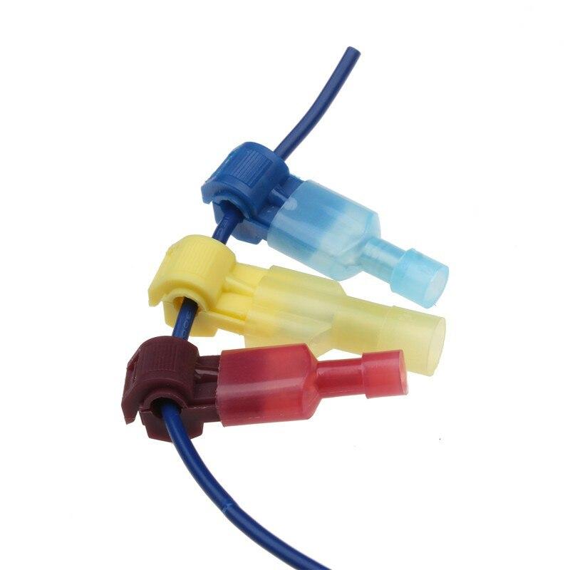 10/30/60 peças vermelho/azul/amarelo scotch lock terminais de emenda rápida combinação 22-10 awg t-tap/masculino isolado conectores de fio conjunto sortido