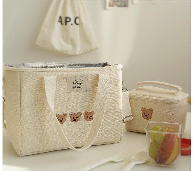 Сумка для мамы с вышивкой медведем, многофункциональная сумка для мамы и ребенка, сумка-мессенджер, модная сумка для мамы