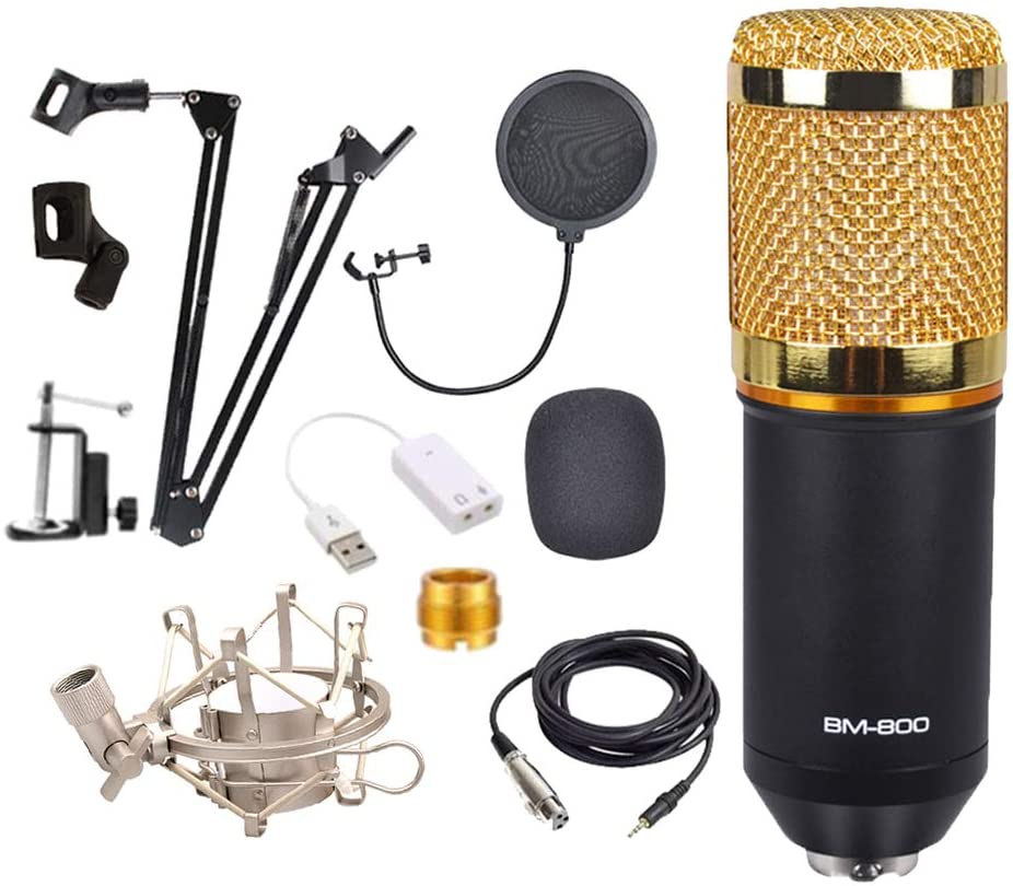 BM800 Condenser Microphone Professional Studio Recording Microphone for Stream Podcasting YouTube Gaming Karaoke PC Microphone enlarge