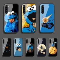 cookies monster phone tempered glass case cover for xiaomi redmi note 7 7a 8 8t 9 9s 9a 10 k20 k30 pro ultra hoesjes painting