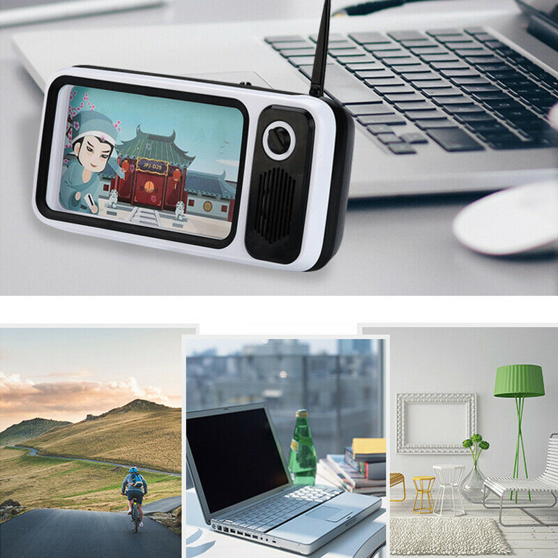 Mini Altavoz Bluetooth inalámbrico portátil Retro TV teléfono móvil soporte VDX99
