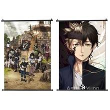 2020 Anime nuevo arte de pared trébol negro póster de pared Manga desplazamiento decoración del hogar