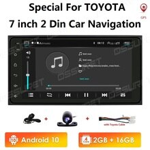 Android 10 Player Multimídia Rádio Do Carro Para Toyota Corolla velho RAV4 Vitz Vios Hilux Terios Prado Avanza Terra 4 Corredor 4G WIFI 2 + 16
