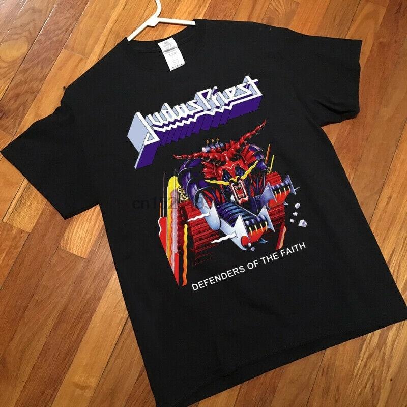 Judas Priest Defenders Of The Faith 84 New Black T-shirt