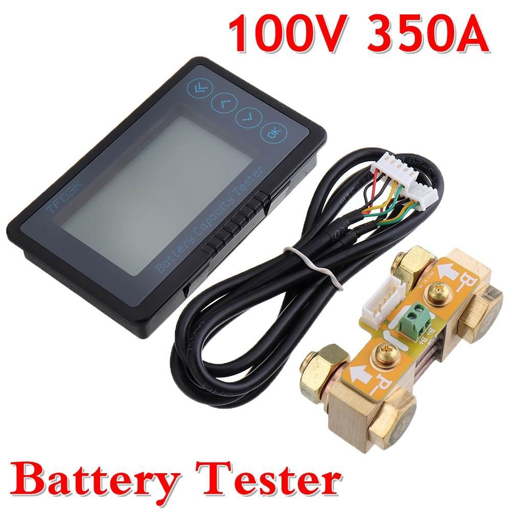 Новинка TF03 100V 350A универсальный тестер емкости батареи индикатор напряжения тока панель кулонометр