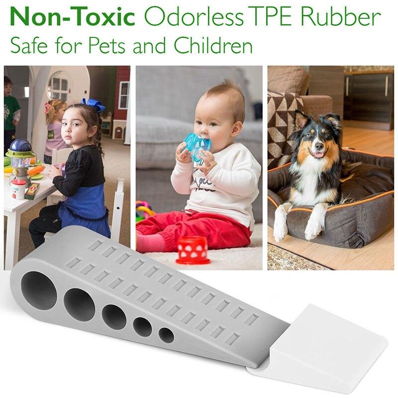 Tapón de goma ambiental seguro para uso pesado, Extra grande, ancho, cuña para puertas, suelo para el hogar TI99