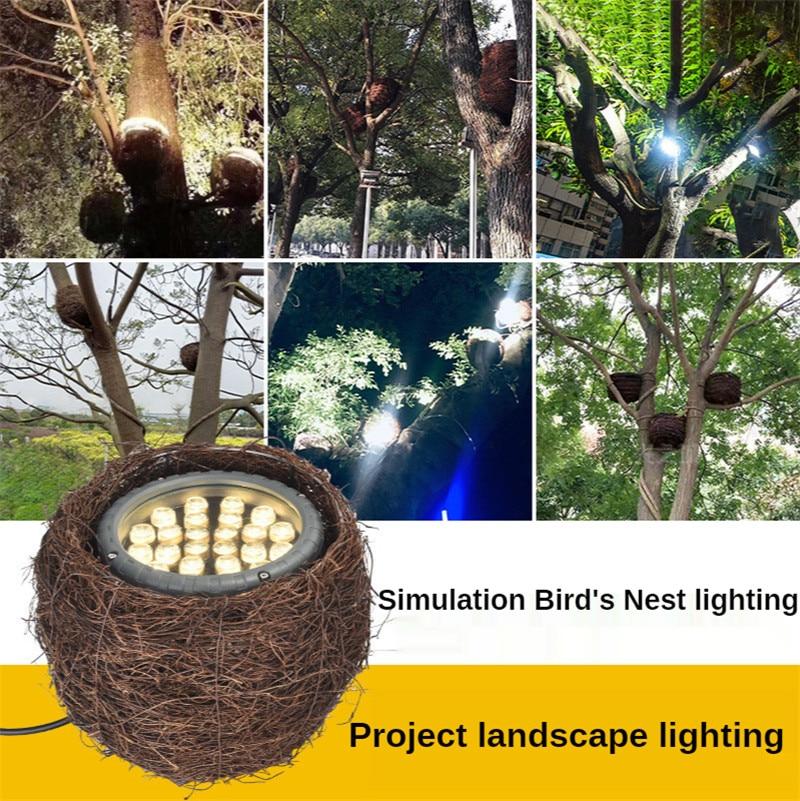 24W 36W 48W Tree Lighting Bird's Nest Tree Light Xmas Garden Lamp Garden Lighting Landscape Decor Lights for Patio Pathway Yard