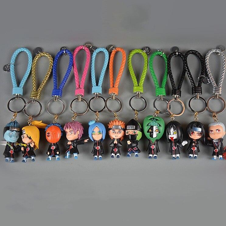 2020 Hot 3D Anime Chaveiro Chaveiro Chaveiro Naruto Figura Kakashi Naruto Boneca Chave Do Carro Saco Cadeia Encantos Pingente Para Cosplay presente