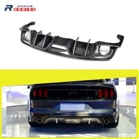 car styling carbon fiber racing rear bumper diffuser lip for ford mustang convertible coupe 2 door 2015 2017 usa eu market only