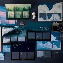 Sonne Mond Sterne Sticky Notes Memo Pad Tagebuch Stationäre Flakes Sammelalbum Dekorative Nette wald himmel N Mal Klebrigen