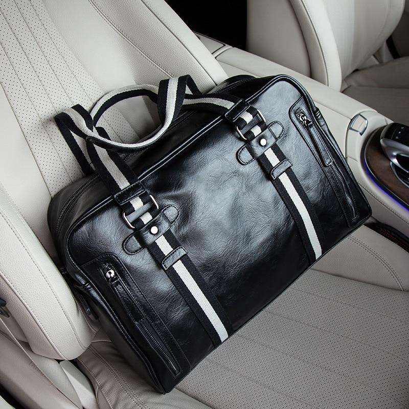 High Quality Leather Bolsa Brand Designed Laptop Briefcase Business Men's Handbags Crossbody Messenger Travel Bags Men