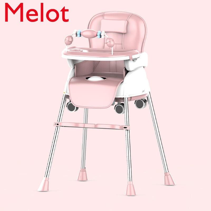 كرسي طعام للأطفال طوي الطفل الأكل المحمولة كرسي أطفال طاولة طعام متعددة الوظائف ومقعد كرسي