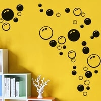 colorful circle bubbles removable wallpaper bathroom window wall sticker home decoration diy pvc decals wall stickers