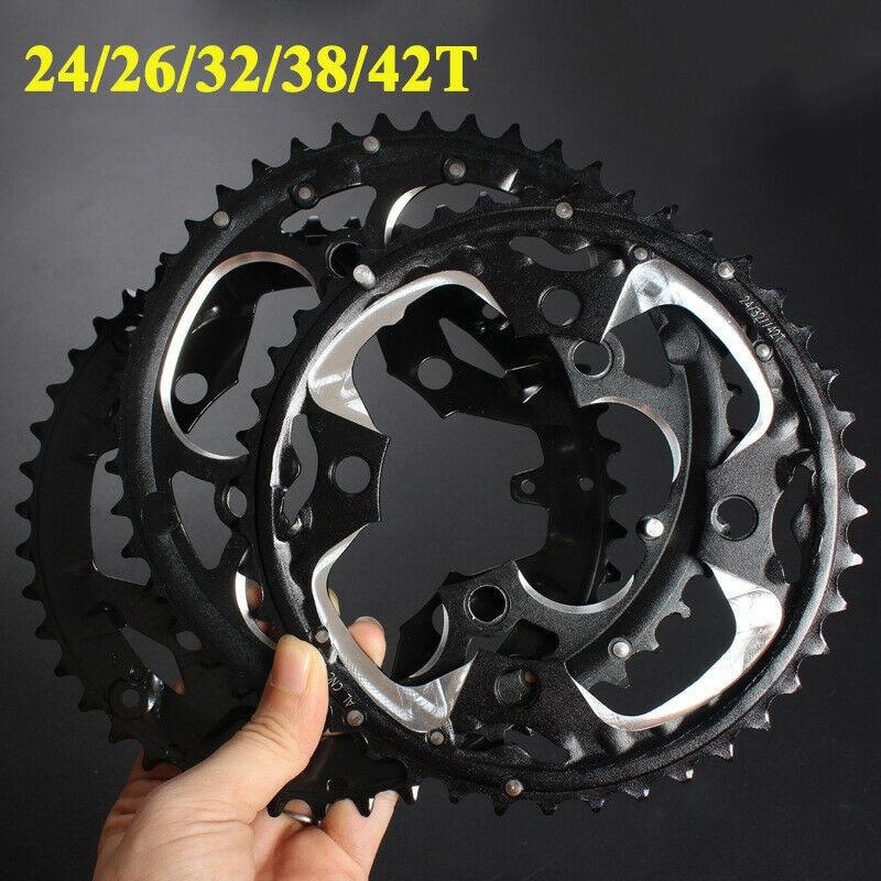 MTB Chainirng 104/64BCD 24/26/32/38/42T Double/Triple Speed Chainwheel Mountain Bike Crankset Bike Parts for Shimano Crankset