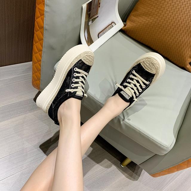 AIYUQI Fisherman Shoes Women Summer Platform 2021 Sll-match Casual Sneakers Shoes Women Korean Lace-up Ladies Shoes 4
