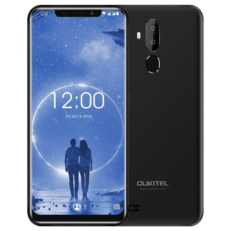 OUKITEL C12 3G Telemóvel 6.18 polegada 2 MT6580 Quad Core 1.3GHz Android 8.1 GB + 16GB 8MP + 2.0MP Camera Fingerprint Smartphone