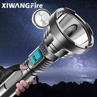 Супер мощный светодиодный фонарик XHP50, Тактический фонарик со встроенной батареей 18650, водонепроницаемый фонарь с USB-зарядкой, Ультраяркий ф...