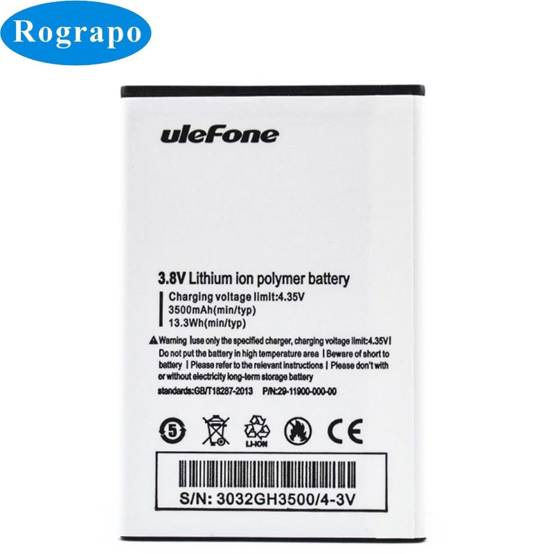 New 3500mAh U008Pro Replacement Mobile Phone Battery For Ulefone U008 Pro 4G 5.0inch MTK6737 Batteri