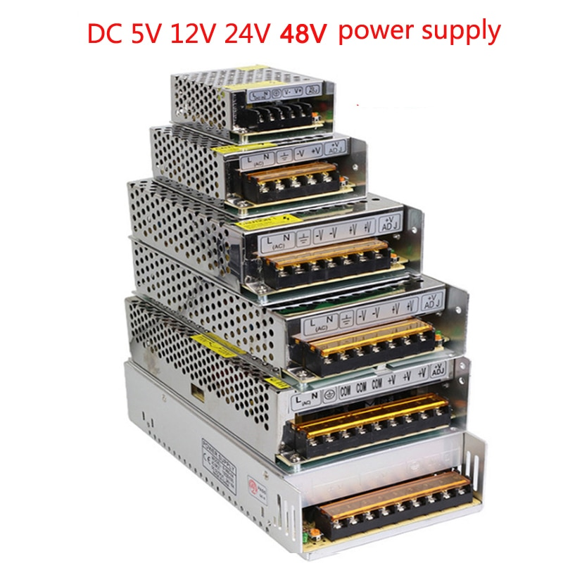 vusum Lighting Transformer AC110V-220V to DC 5V 12V 24V 48V Power Supply Adapter 2A 5A 10A 15A 20A 3