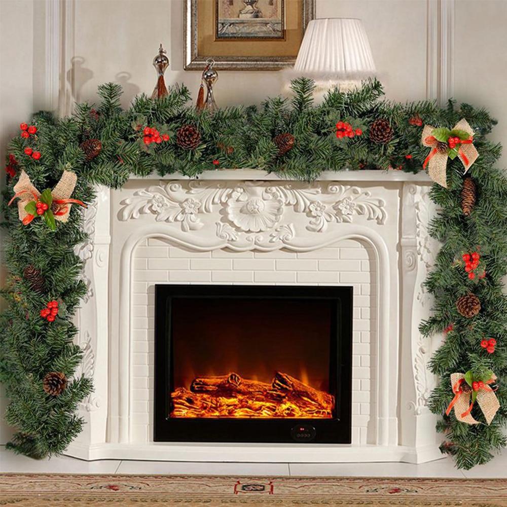 1,8 M Navidad ratán flor Artificial árbol ornamento guirnalda al aire libre colgante guirnalda fiesta de Navidad suministros hogar puerta escaleras Decoración