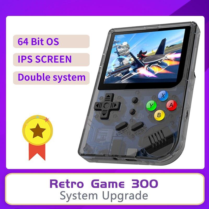 ANBERNIC-وحدة ألعاب فيديو, وحدة تحكم ألعاب فيديو RG300 ريترو لعبة مزدوجة نظام لينوكس وحدة تحكم ألعاب فيديو 3.0 شاشة IPS محمولة لعبة محمولة محمولة + 3000 ل...