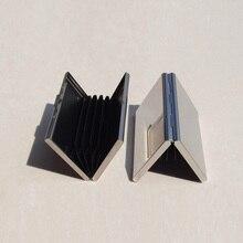 Nouvellement porte-carte de crédit portefeuille hommes en acier inoxydable porte-cartes de banque étanche RFID blocage couverture FIF66