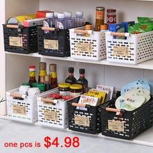 Cesta de armazenamento de cozinha de plástico multi-funcional legumes cremalheiras de frutas com cesta de armazenamento de cobertura para organizadores caixa de armazenamento novo