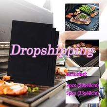Tamaño múltiple reutilizable antiadherente BBQ Grill Mat Pad hornear hoja portátil pícnic al aire libre cocinar barbacoa horno herramienta de Venta caliente