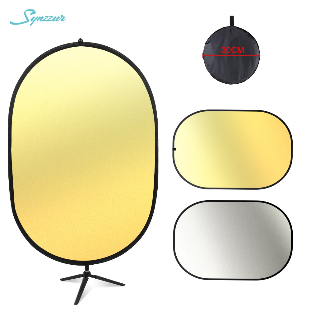 Oval multi disco 60*90cm refletor titular fotografia com tripé portátil difusor de luz dobrável para acessórios estúdio foto