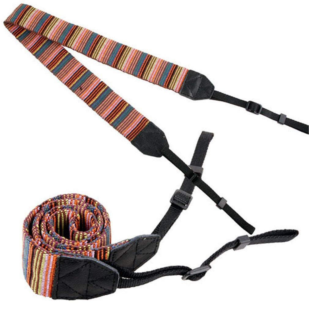 Universal Color Stripes Soft red Camera Neck Straps Shoulder Strap Belt Grip For Nikon For Canon For Panasonic