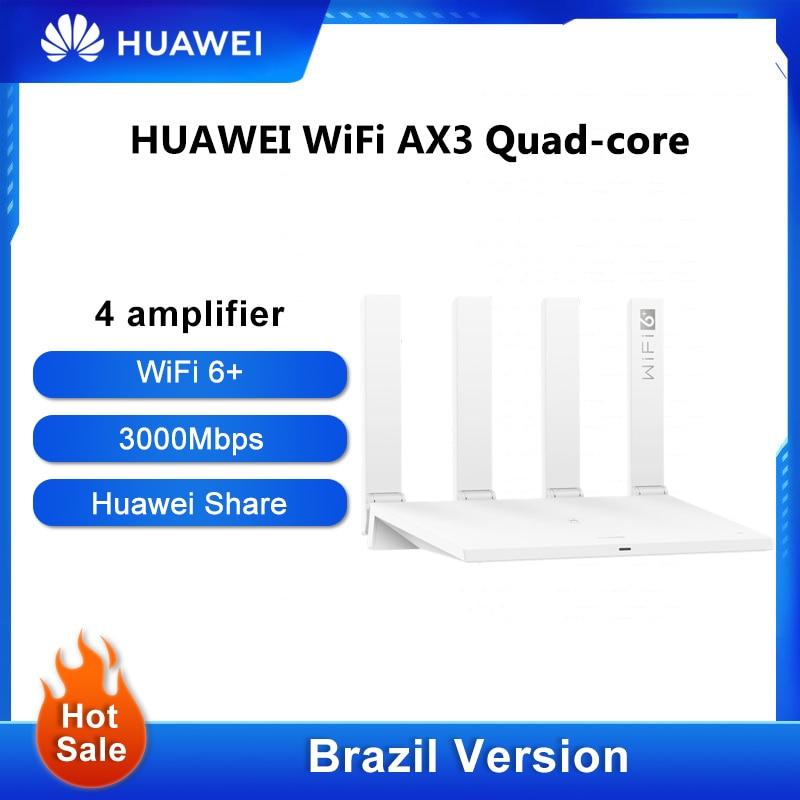 Оригинальная версия для Бразилии HUAWEI WiFi AX3 Pro четыре усилителя WiFi 6 + беспроводной роутер WiFi 6 + ретранслятор 3000 Мбит/с NFC двухъядерный