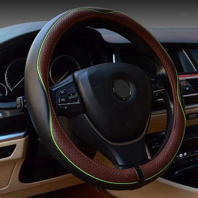 Volante del coche-cubierta de la rueda de 38CM para brillantez faw v5 byd f0 f3 s6 Cadillac cts srx cs35 chery tiggo 5 t11
