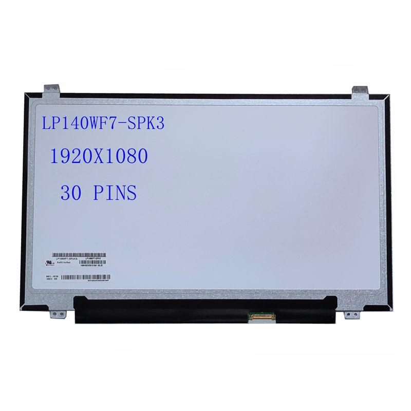 "14.0 ""Polegada tela lcd do portátil LP140WF7-SPK3 fhd 1920x1080 30 pinos"