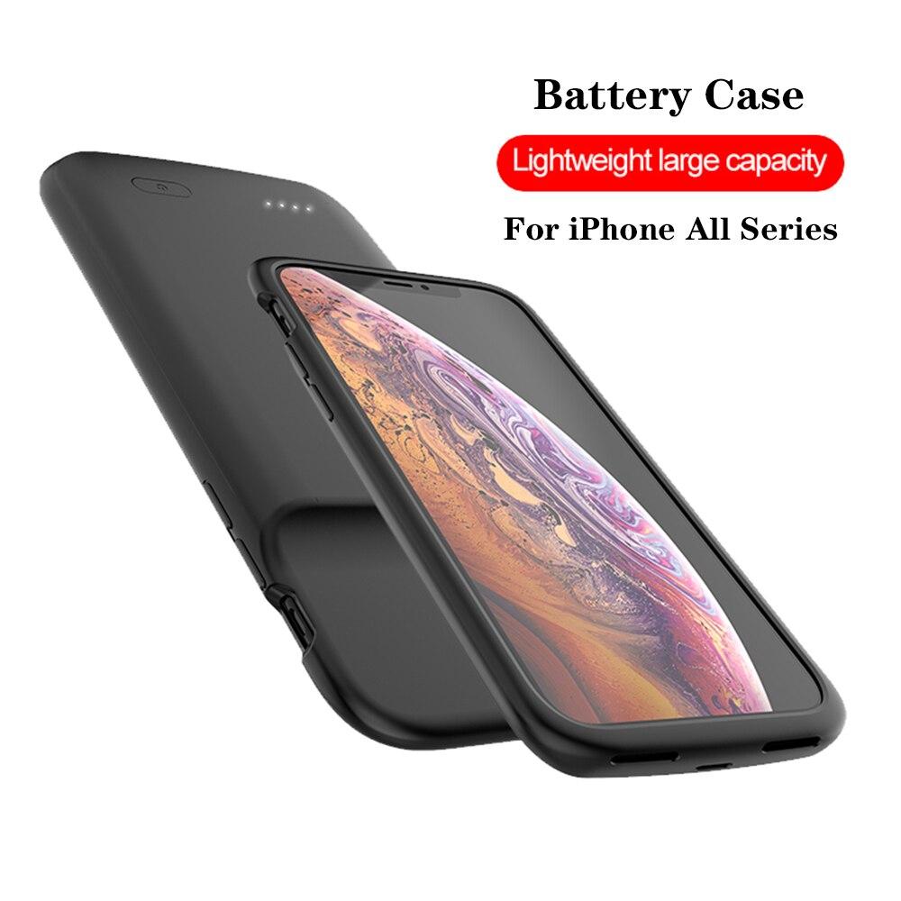 Etui na baterie do iphonea Power Bank przenośna ładowarka Powerbank etui na iPhone 11 Pro Max X XS XR 6 6S 7 8 Plus 5 5S SE