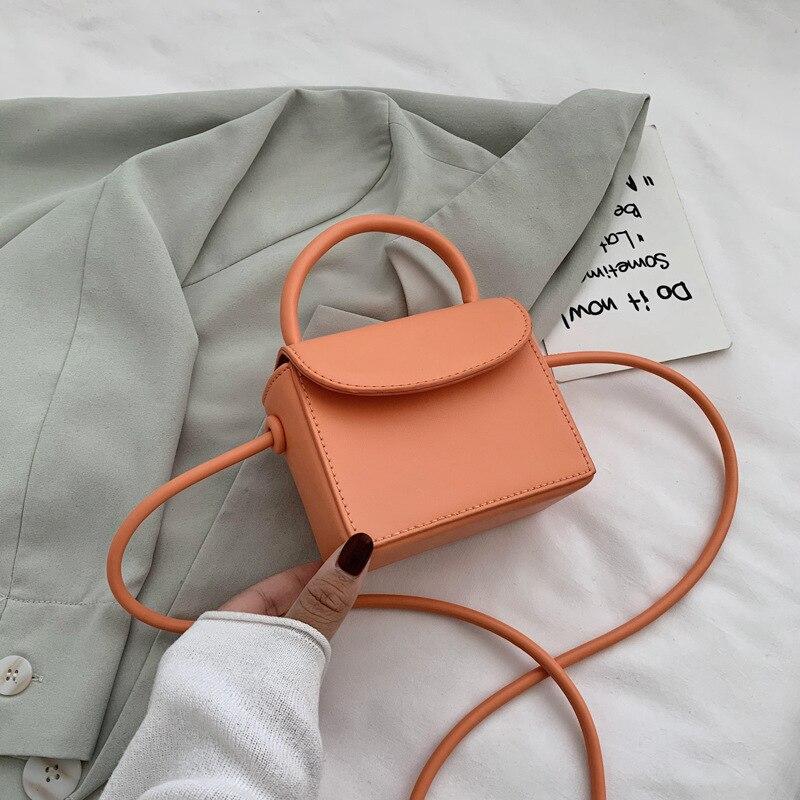 Bolsa de Moda Bolsa na Moda Verão Sólida Ombro Único Mensageiro Mini Marca Luxo Flip Pequeno Quadrado Bolsa Viagem Sac Cor