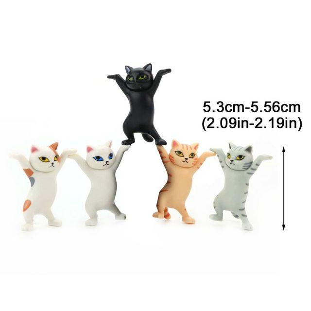 Cat pen holder black cat without coffin bracket Kids Funny Cat Pen Holder Kids Adult Doll Toy Gift Weightlifting Cat Pen holders 2