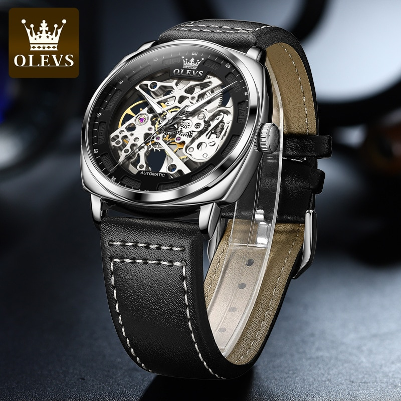 Watch Fully Automatic Mechanical Watch Hollow Perspective Large Dial Waterproof Men's Watch Men's Watch enlarge