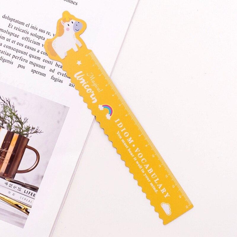 Regla de unicornio/cerdo 1 uds., artículos de papelería Kawaii, reglas bonitas novedosas, regla de diseño suave para estudiantes, juego de reglas de dibujo, suministros escolares
