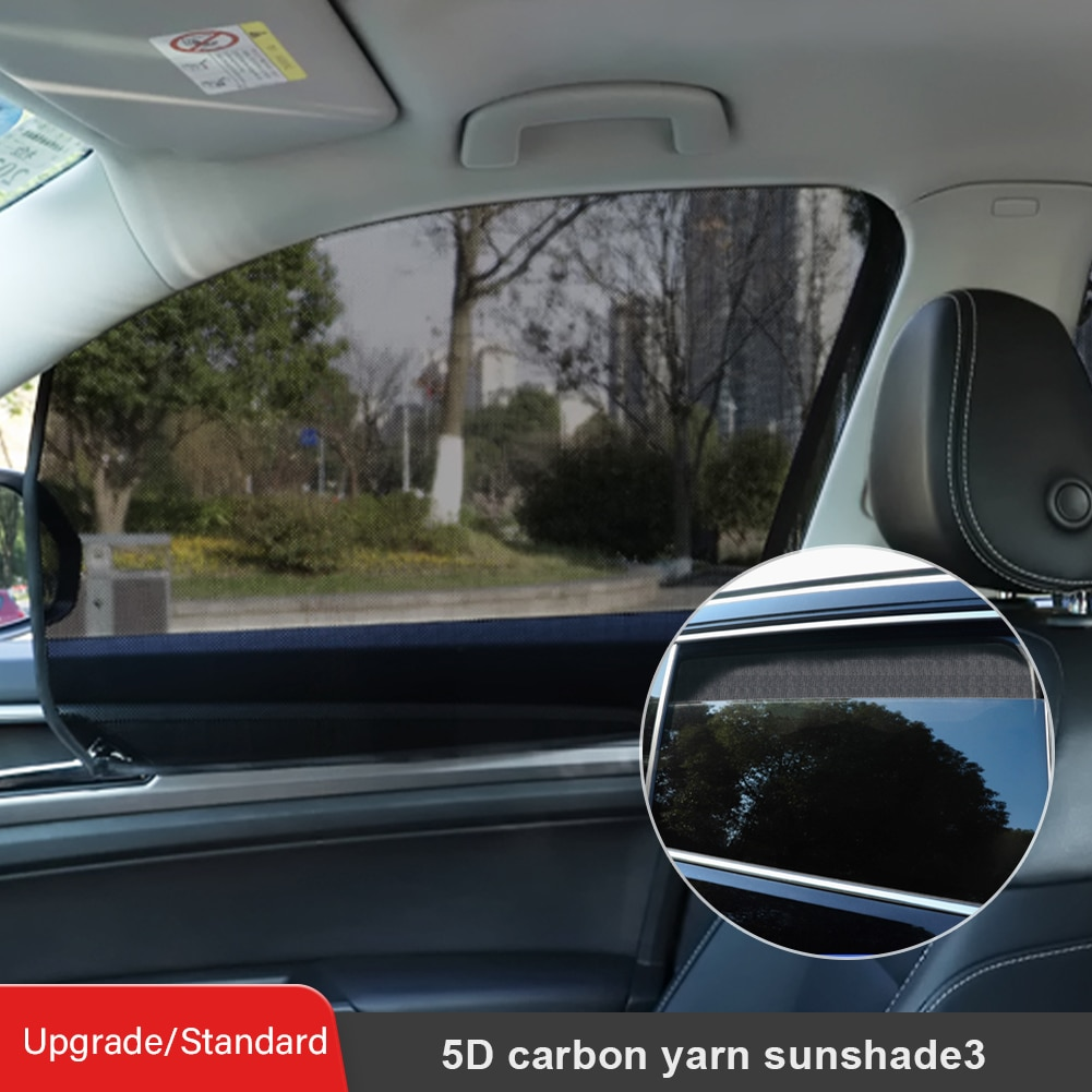 Car Side Window Sunshade Magnetic Anti-fog Foldable Auto Front Rear Mesh Fabric Black Accessories Styling
