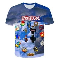 new boys games t shirts children robloxing cosplay t shirt pullover fashion kids girls tops 2021 summer clothes for teenagers